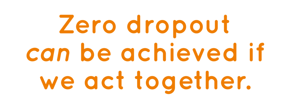 Zero dropout can be achieved if we act together